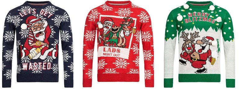 Brave Soul Tasty X-Mas Weihnachts Pullover