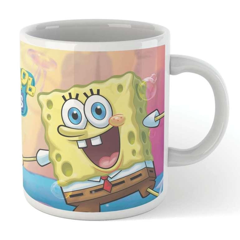 Zavvi: Spongebob Schwammkopf Bundle (T-Shirt + Tasse) für 11,48€