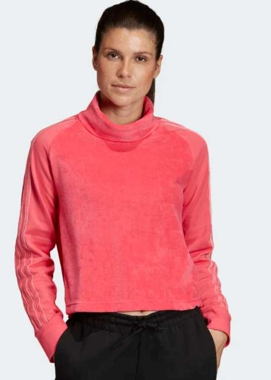 adidas Sport ID Oberteil aus Velours in Pink für 23,98€ inkl. Versand (statt 30€) - Creators Club!