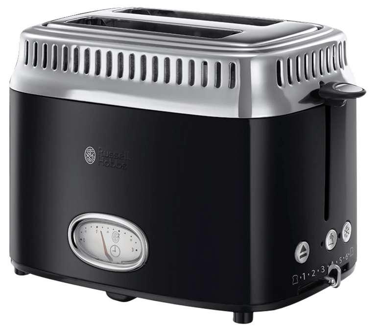 Russell Hobbs Toaster Retro in schwarz für 39,94€ inkl. Versand (statt 53€)