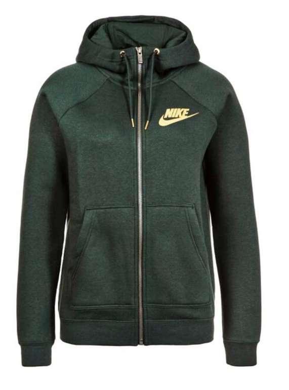 "Nike Damen Hoodie ""RALLY FZ METALLIC"" in Grün für 28,94€ inkl. VSK (statt 55€)"