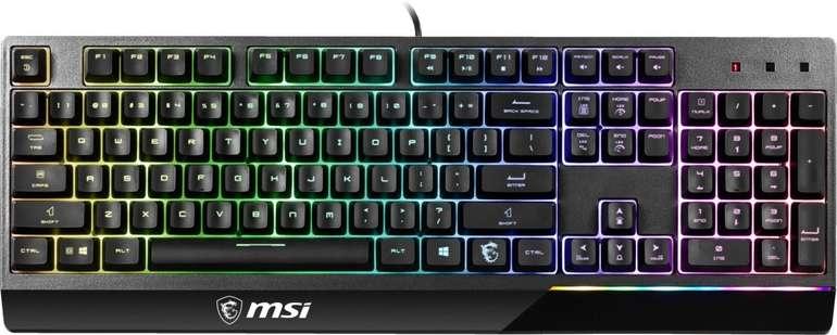 MSI Vigor GK30 Gaming Tastatur (RGB Beleuchtung) für 38,76€ inkl. Versand (statt 54€)