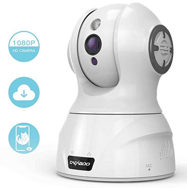 Cacagoo Überwachungskamera (1080p, WLAN) für 28,99€ inkl. Versand
