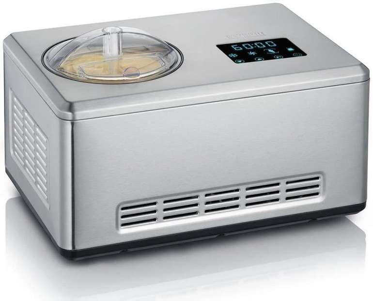 Severin EZ 7406 Eismaschine mit Joghurtfunktion inkl. 2 Eisbehälter (2 Liter) für 199,99€ (statt 250€)