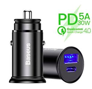 Baseus USB-C KFZ-Ladegerät mit Fast Charge für 7,69€ inkl. Prime (statt 14€)
