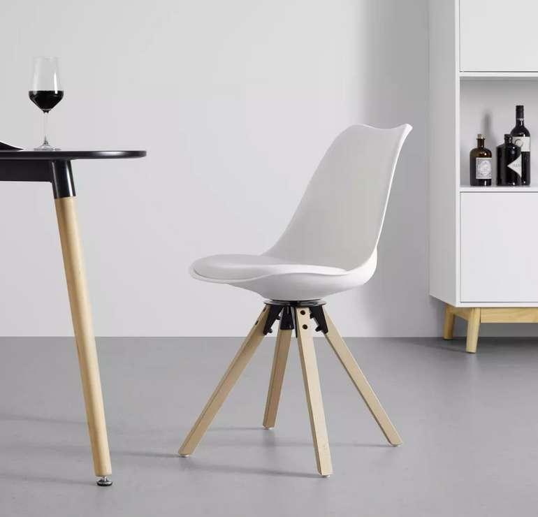"Bessagi Home Stuhl ""Ricky 2"" in Weiß für 40,25€ inkl. Versand (statt 55€)"