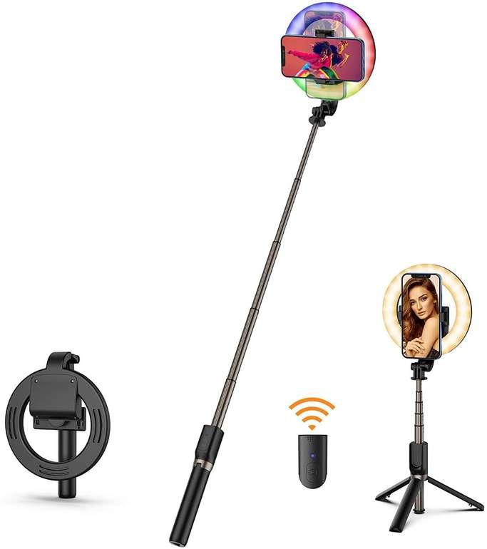 """Oopor Selfie RGB 6,3"""" Ringlicht mit Stativ für 11,76€ inkl. Prime Versand (statt 28€)"""