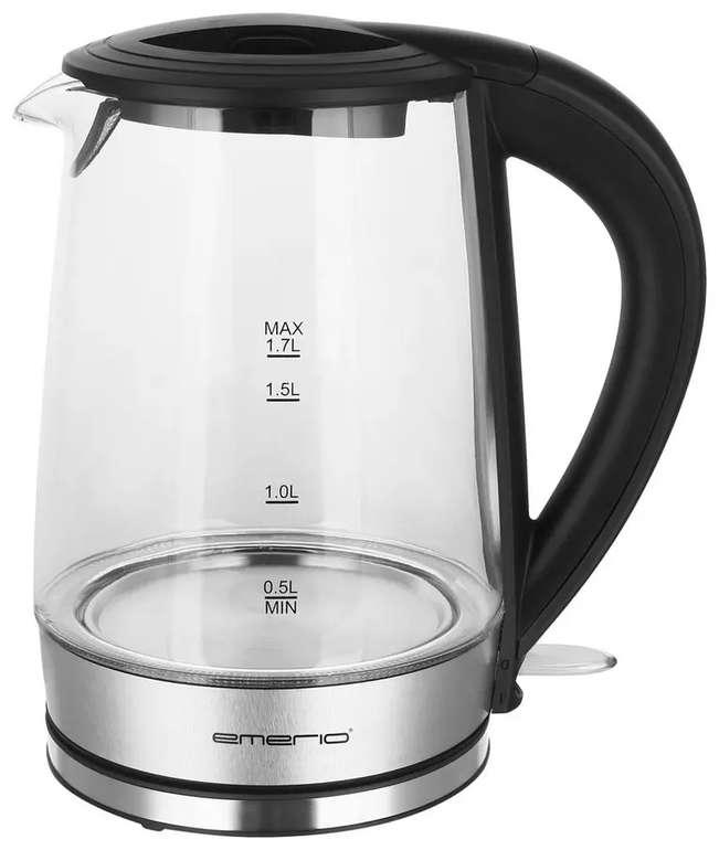Emerio Glas-Wasserkocher WK-123132.1 mit 1,7 Liter für 9,99€ bei Abholung (statt 23€)