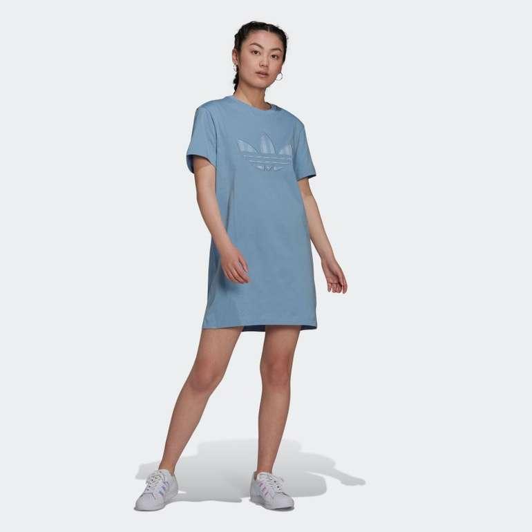 Adidas Originals Trefoil Application T-Shirt Kleid in zwei Farben für je 28€ inkl. Versand (statt 40€)