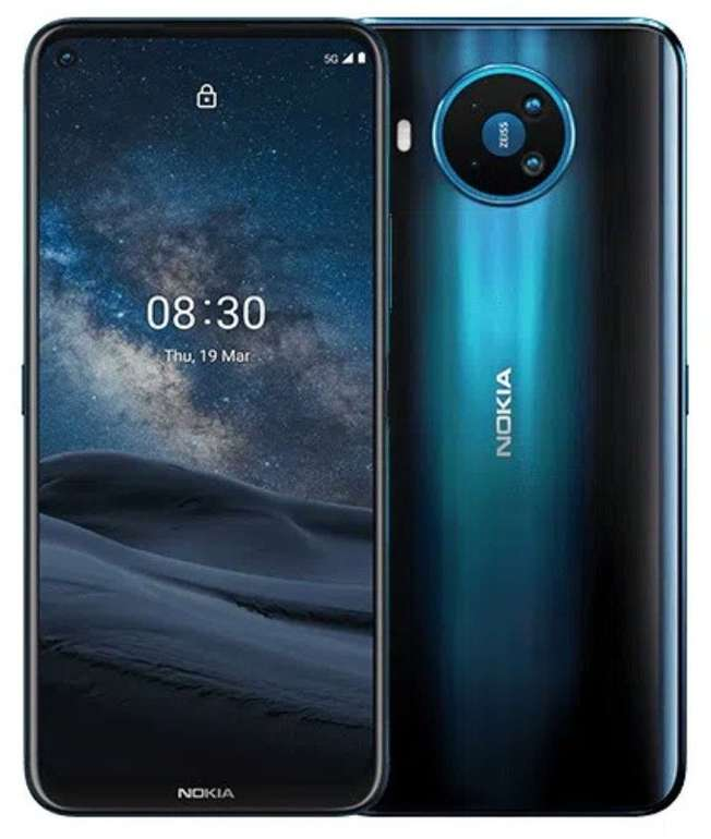 Nokia 8.3 (5G) mit 128GB Speicher (59,95€) + Congstar Allnet & SMS Flat (Telekom Netz) mit 8GB LTE für 20€ mtl.