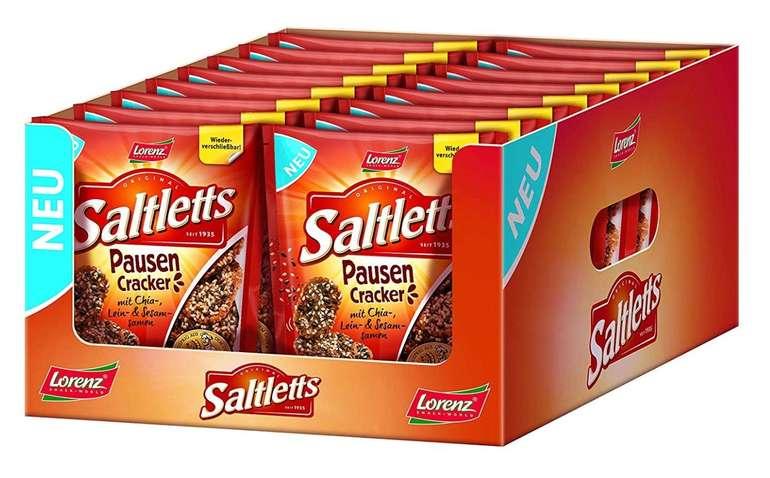 Preisfehler? 16er Pack Lorenz Snack World Saltletts Pausen Cracker (16 x 100g) für 1,69€ inkl. Prime Versand