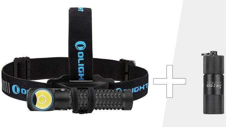 Olight Perun Multifunktions- Taschenlampe mit Kopfband + I1R II EOS Taschenlampe für 80,91€