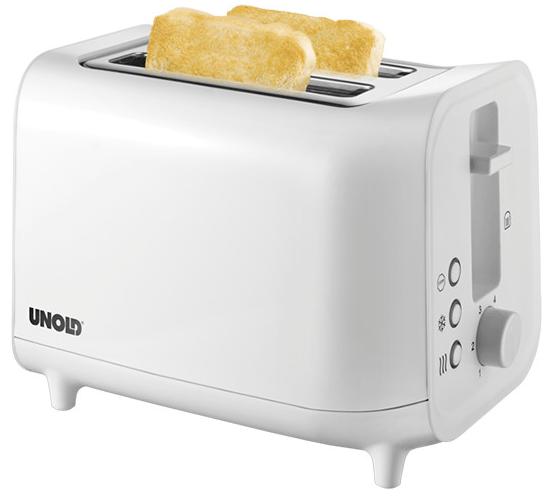 Unold 38411 Easy White Toaster, 800 Watt für 10€ inkl. Versand (statt 21€)