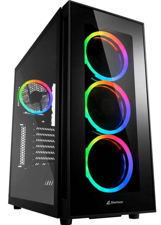 Sharkoon TG5 RGB Silent PCGH Edition Tower-Gehäuse in schwarz für 69,32€ inkl. Versand (statt 87€)