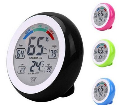 Temperature Humidity - Digital Hygrometer mit Touchscreen für 3,53€ (statt 11€)