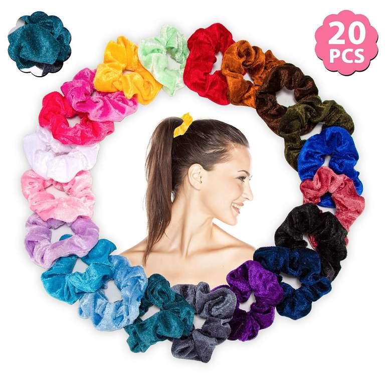 Lebexy Samt Haargummis (20 Stück) für 3,99€ inkl. Prime Versand