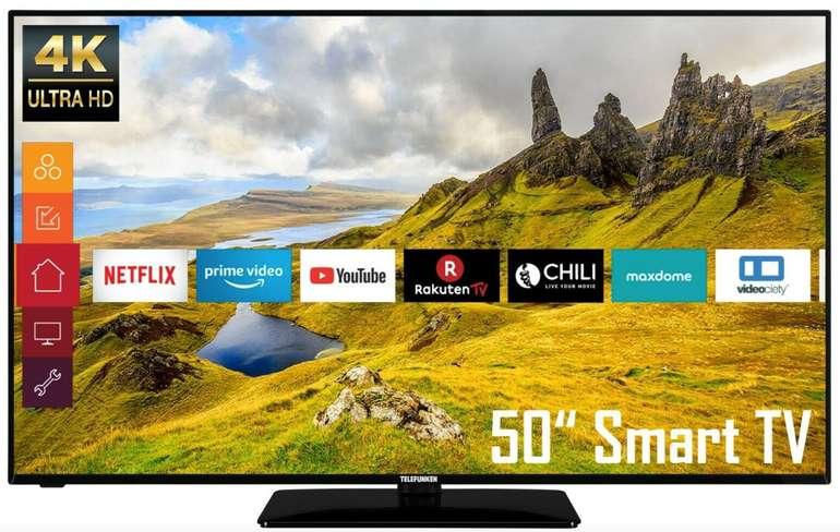 Telefunken D50U551N1CW - 50 Zoll 4K UHD HDR Smart TV für 359,99€ inkl. Versand (statt 399€)