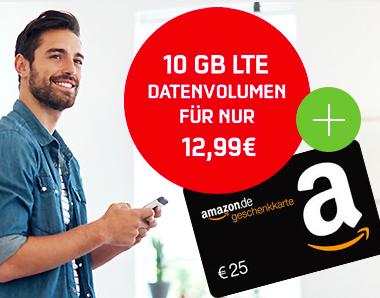 10GB Telekom Internet Flat für 12,99€ mtl. + 25€ Amazon + Weihnachtsbaum