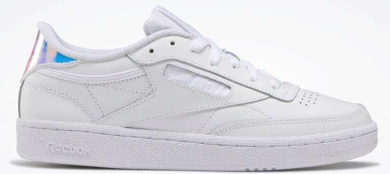 """Reebok Club C 85 Iridescent Damen Sneaker im """"White""""-Colourway für 39,98€ inkl. Versand (statt 48€)"""