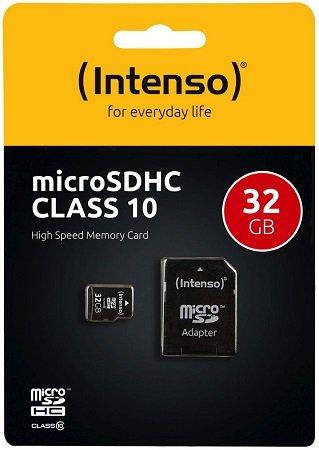 Intenso 32GB microSDHC + SD-Adapter für 5,55€ inkl. Versand