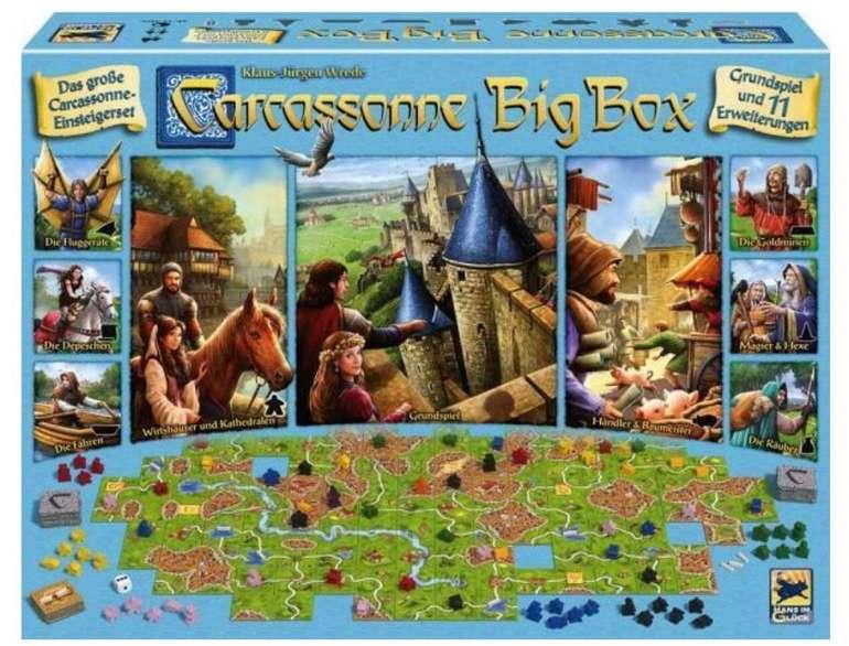 Brettspiel: Asmodee Carcassonne Big Box + 11 Erweiterungen für 33,92€ inkl. Versand (statt 39€)