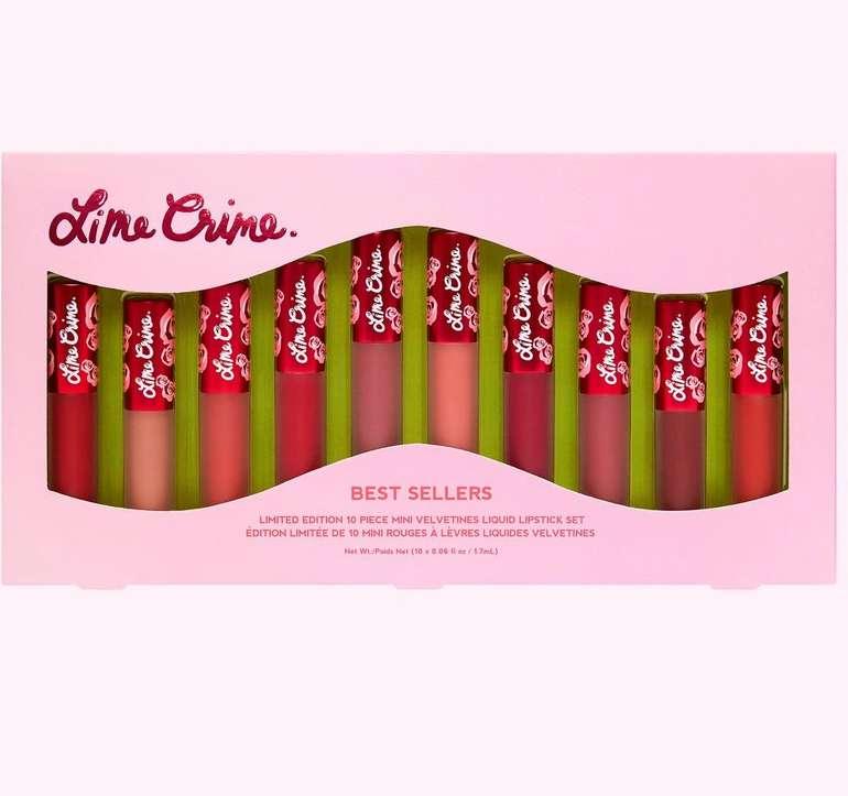 Lime Crime Sale mit bis zu 60% Rabatt (oder 25% auf reguläre Ware) – z.B. Mini Velvetines Lip Set für 40,30€