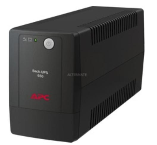APC Back-UPS BX650LI-GR, USV in schwarz für 56,78€ inkl. Versand (statt 64€)