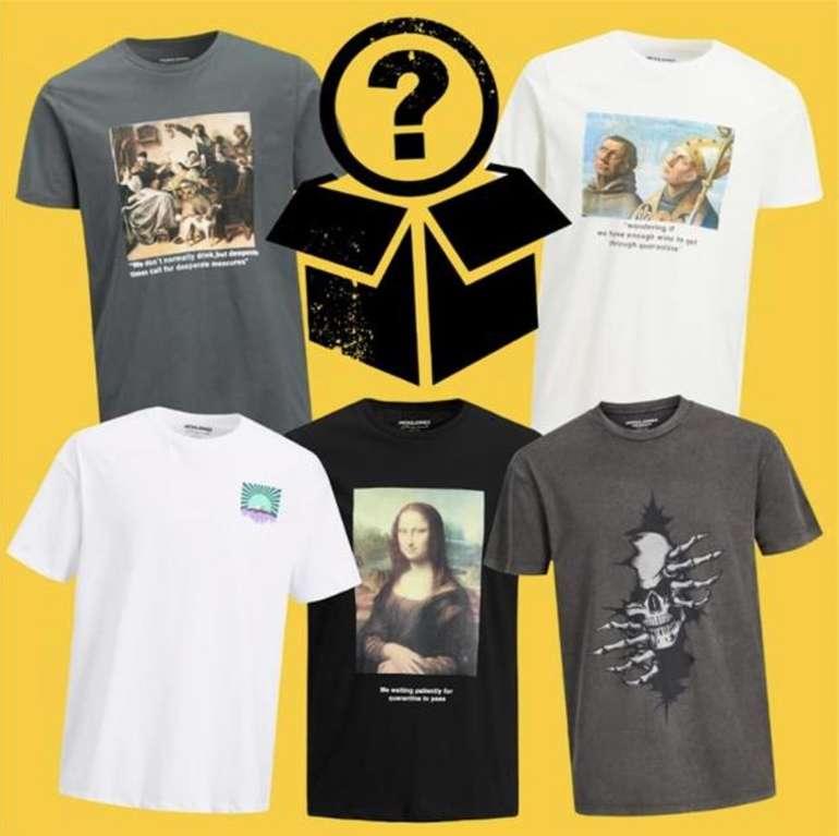 Tara-M: Jack & Jones Mystery T-Shirt Box mit 10 zufälligen Modellen für 50€ oder mit 15 Shirts für 70€