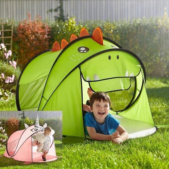 """Modern Living Kinderzelt """"Dino"""" oder """"Einhorn"""" für je nur 10€ (MBW: 15€)"""