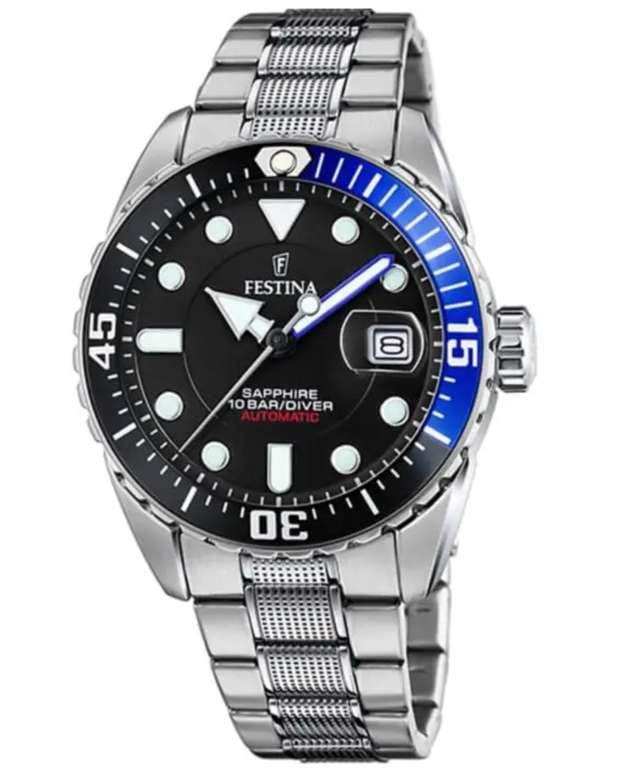Festina F20480/3 Herren Automatik Armbanduhr für 137,39€ inkl. Versand (statt 158€)
