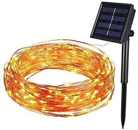 Hengda Kupferdraht Lichterketten reduziert, z.B. 20m Solar Lichterkette für 10,79€
