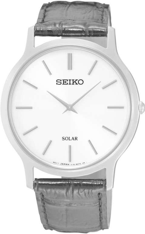 Seiko Solar Herren-Uhr Edelstahl mit Lederband SUP873P1 für 110,08€ inkl. Versand (statt 136€)