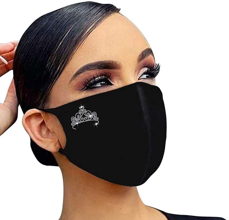 Skxinn Mund-Nase-Maske mit Strass für 1,71€ inkl. Versand (statt 6€)