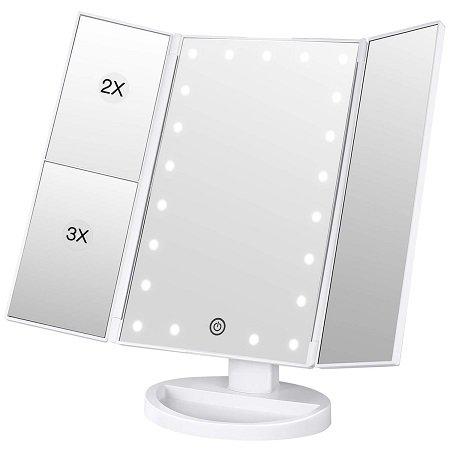 BESTOPE beleuchteter LED Schminkspiegel (USB / AAA-Batterien) für 10,99€ (Prime)