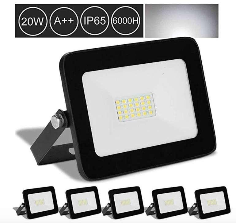 5er Pack Hengda LED Strahler bzw. Fluter mit je 20 Watt für 25,19€ inkl. Versand