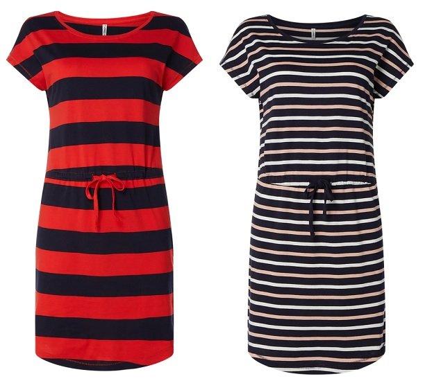 Only May Kleid mit Streifenmuster in zwei Farben für je nur 9,74€ (statt 14€)