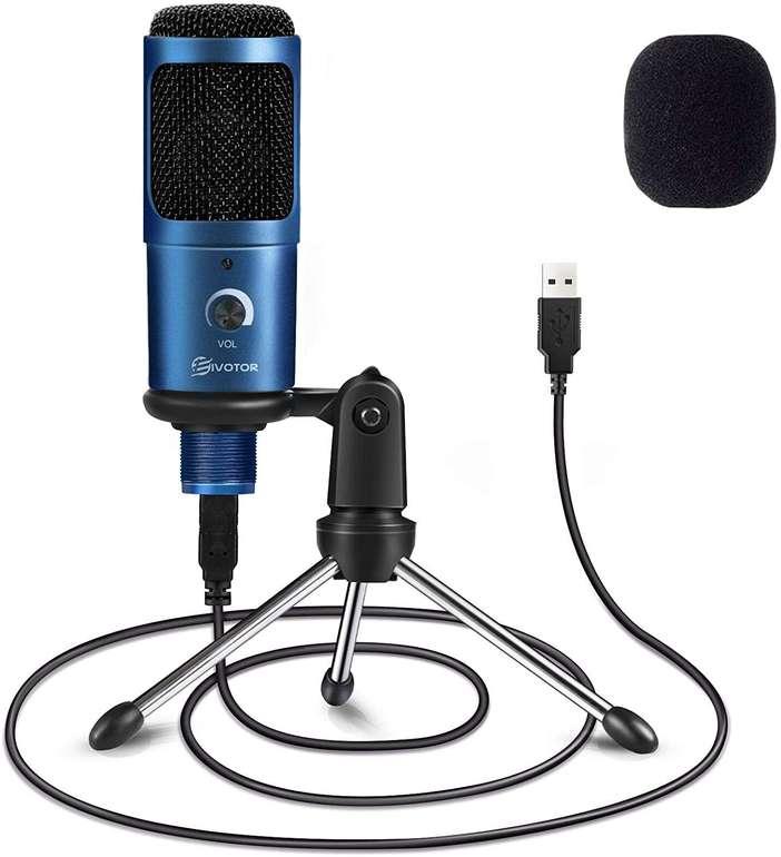 Eivotor USB Mikrofon mit Stativ für 16,09€ inkl. Prime Versand (statt 23€)