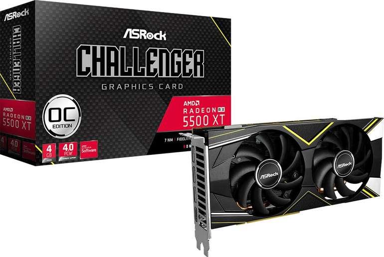 ASRock Grafikkarte Radeon RX 5500 XT 4GB Challenger D 4G OC für 137,78€ inkl. Versand (statt 190€)