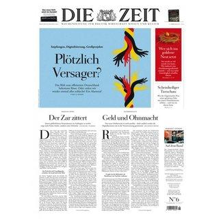 """6 Ausgaben """"Die Zeit"""" für 6€ (statt 30,60€) - keine Kündigung nötig!"""