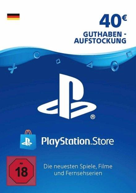 40€ Sony PSN PlayStation Network Guthaben für 31,59€