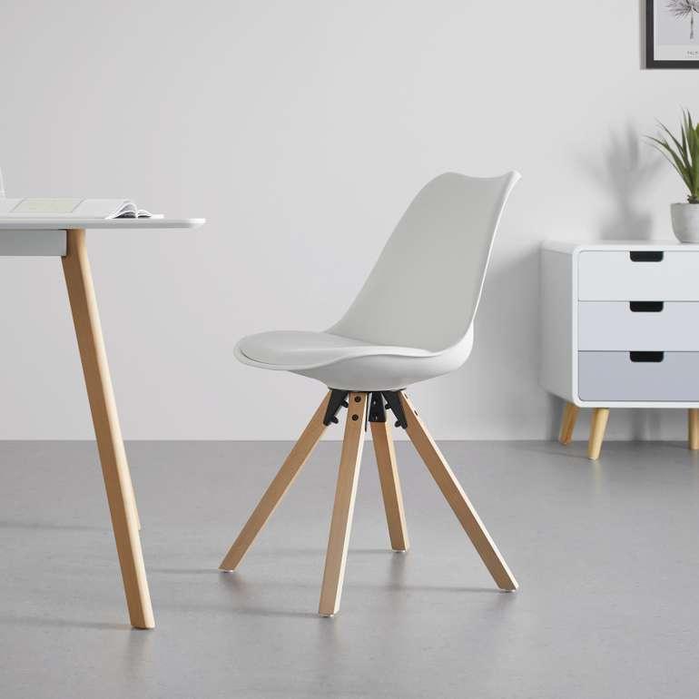 Bessagi Home Stuhl Ricky mit Holzfüßen für 29,90€ zzgl. Versand