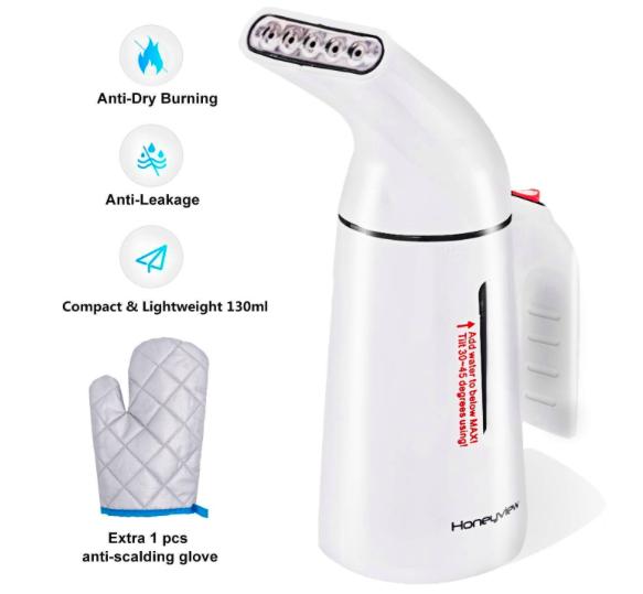 Honeyview Dampfglätter mit 700W und 150ml Wassertank für 10,99€ inkl. Prime VSK