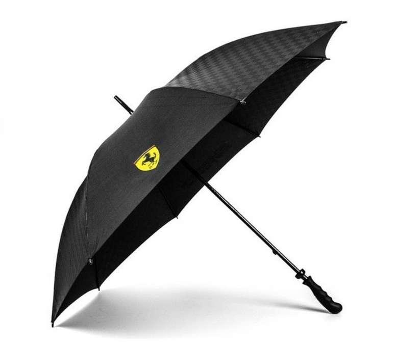 """Ferrari Regenschirm """"Carbon"""" mit Etui für 27,24€ inkl. Versand (statt 35€)"""