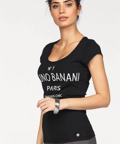 Bruno Banani Damen T-Shirt in schwarz/weiß für 22,49€ inkl. VSK (statt 31€)