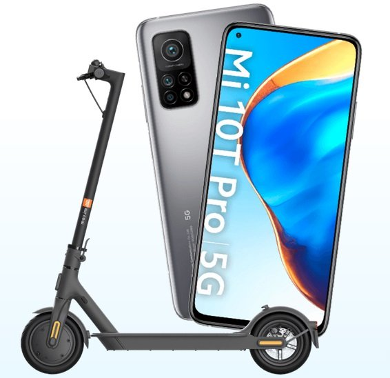 Xiaomi Mi 10T Pro 5G 256GB + Xiaomi Mi Scooter 1S für 649,90€ (statt 970€)