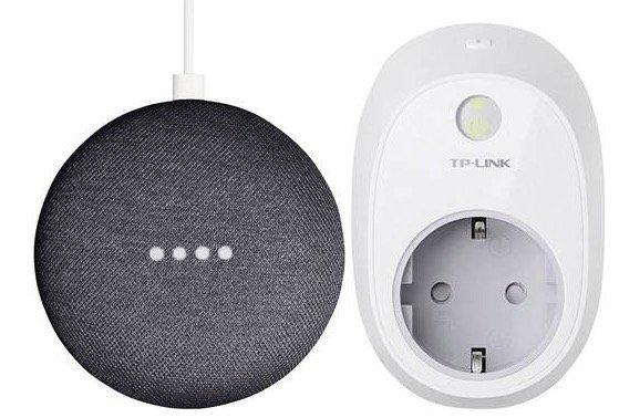 Google Home Mini + TP-Link HS100 W-LAN Steckdose für 59,99€ (statt 85€)