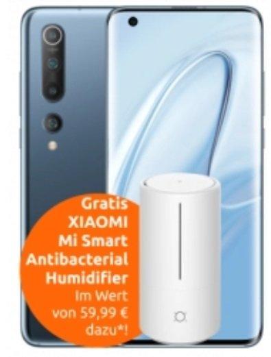 Xiaomi Mi 10 + Mi Luftbefeuchter (49€) + Vodafone Allnet-Flat mit 25GB LTE für 19,99€ mtl. (Young+GigaKombi)