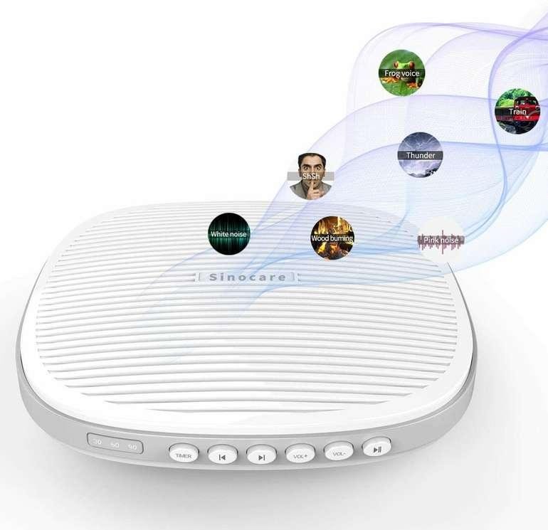 Sinocare Mini White Noise Machine (Einschlafhilfe) für 11,49€ inkl. Versand (statt 21€)