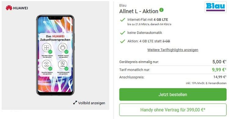 Huawei Mate 20 Lite Blau Allnet 4GB LTE