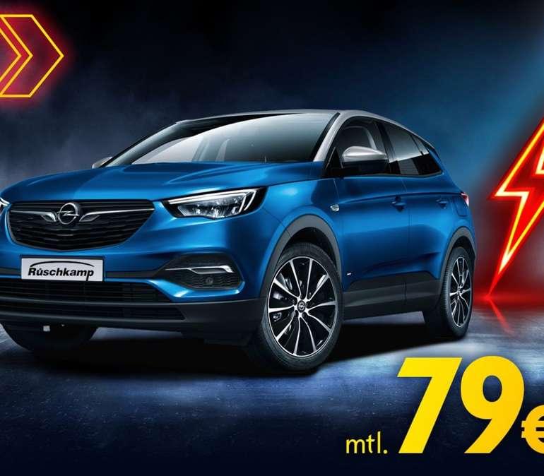 Gewerbe Leasing: Opel Grandland X Hybrid mit 224 PS Systemleistung Edition + NAVI für 79€ netto mtl. (BAFA, ÜF: 831,93€, LF: 0,21)